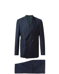 Traje de rayas verticales azul marino de Fashion Clinic Timeless