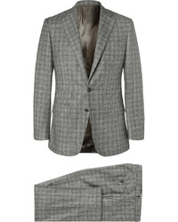 Traje de tres piezas de lana a cuadros gris
