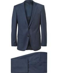Traje de tres piezas de lana azul marino de Hugo Boss