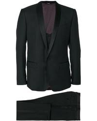 Traje de tres piezas de lana negro de Dolce & Gabbana