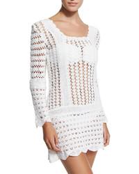 Tunique de plage en crochet blanche Letarte