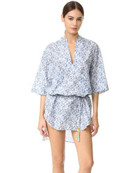 Tunique de plage imprimée bleue claire Stella McCartney