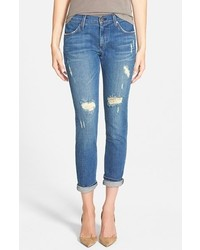 Vaqueros boyfriend desgastados azules de James Jeans