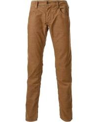 Vaqueros de pana marrónes de Armani Jeans