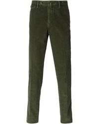 Vaqueros de pana verde oscuro de Pt01