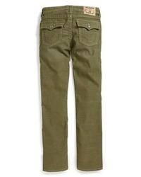 Vaqueros de pana verde oscuro de True Religion Brand Jeans
