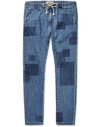 Vaqueros de patchwork azules de Remi Relief