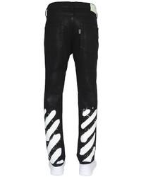 Vaqueros de rayas horizontales negros de Off-White