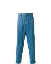 Vaqueros de rayas verticales azules