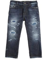 Vaqueros desgastados azules de Dolce & Gabbana