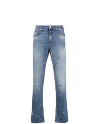 Vaqueros desgastados celestes de Versace Jeans