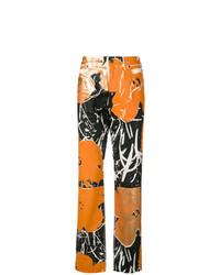 Vaqueros estampados naranjas de Calvin Klein 205W39nyc