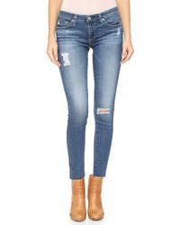 Vaqueros pitillo desgastados azules de AG Jeans