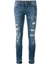 Vaqueros pitillo desgastados azules de Dolce & Gabbana