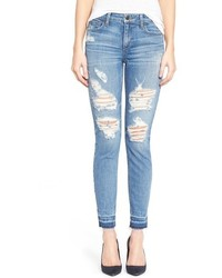 Vaqueros pitillo desgastados celestes de Joe's Jeans