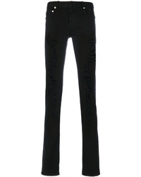 Vaqueros pitillo desgastados negros de Christian Dior