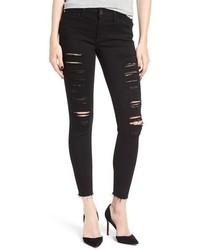 Vaqueros pitillo desgastados negros de Joe's Jeans