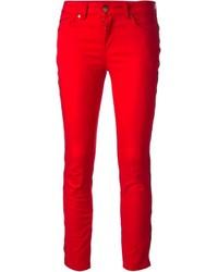 Vaqueros pitillo rojos de Alexander McQueen