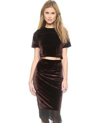 Velvet cropped top original 3994642