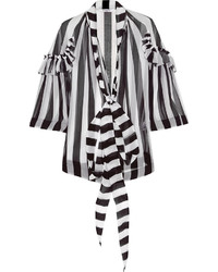 Vertical striped button down blouse original 4300535