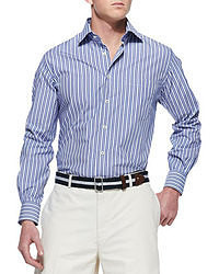 Vertical Striped Long Sleeve Shirt