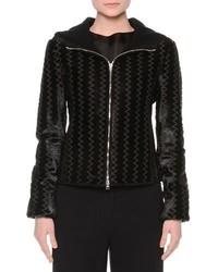 Acheter veste à motif zigzag noire femmes  choisir vestes à motif ... 02415d100b1