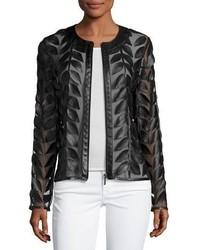 Veste en cuir noire Neiman Marcus