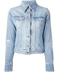 Veste en jean bleue claire