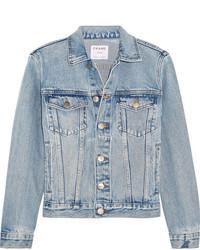 Veste en jean bleue claire Frame