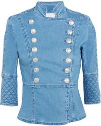 Veste en jean bleue claire PIERRE BALMAIN
