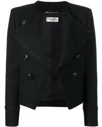 Veste en laine noire Saint Laurent