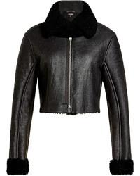 Veste en peau de mouton retournée en cuir noire Yeezy