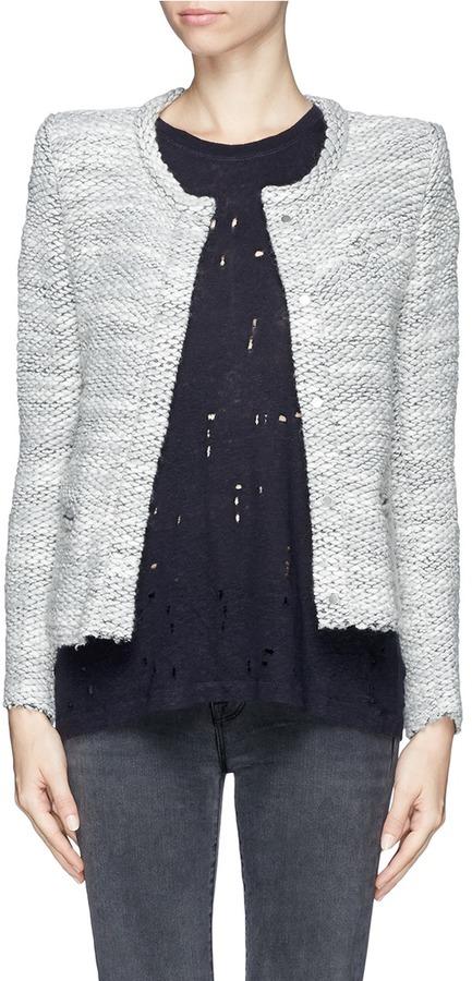 Veste en tweed grise femme