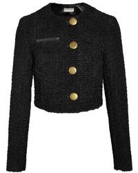 Veste en tweed noire Balenciaga