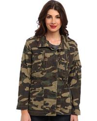 Veste militaire camouflage vert foncé Sam Edelman