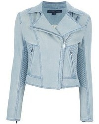 Veste motard en denim bleue claire Theyskens' Theory