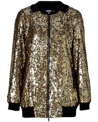 Veste pailletée dorée
