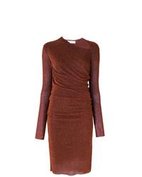 Vestido ajustado burdeos de A.F.Vandevorst