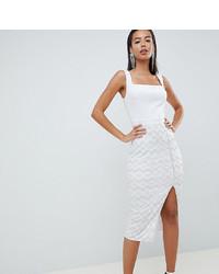 Vestido ajustado de lentejuelas blanco
