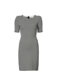 Vestido ajustado de rayas horizontales en negro y blanco de Sonia Rykiel
