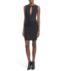 Vestido ajustado negro de Missguided