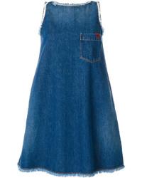 Vestido amplio azul de Love Moschino