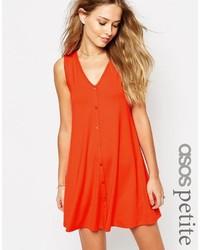 Vestido amplio naranja