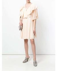 Vestido amplio rosado de Chloé