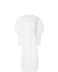Vestido camisa a lunares blanca de Georgia Alice