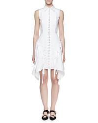 Vestido camisa bordada blanca de Proenza Schouler