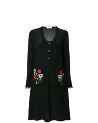 Vestido camisa bordada negra de Sonia Rykiel