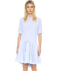 Vestido camisa celeste de DKNY