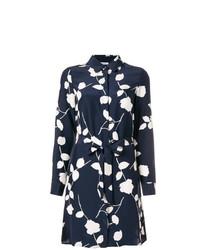 Vestido camisa con print de flores azul marino de P.A.R.O.S.H.