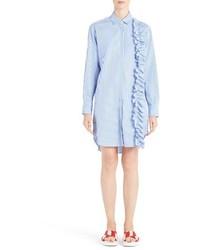 Vestido Camisa de Rayas Verticales Azul de MSGM